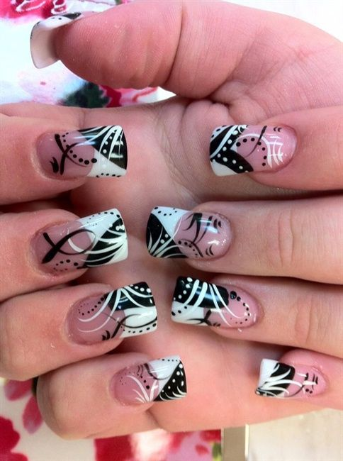 Black White - Nail Art Gallery