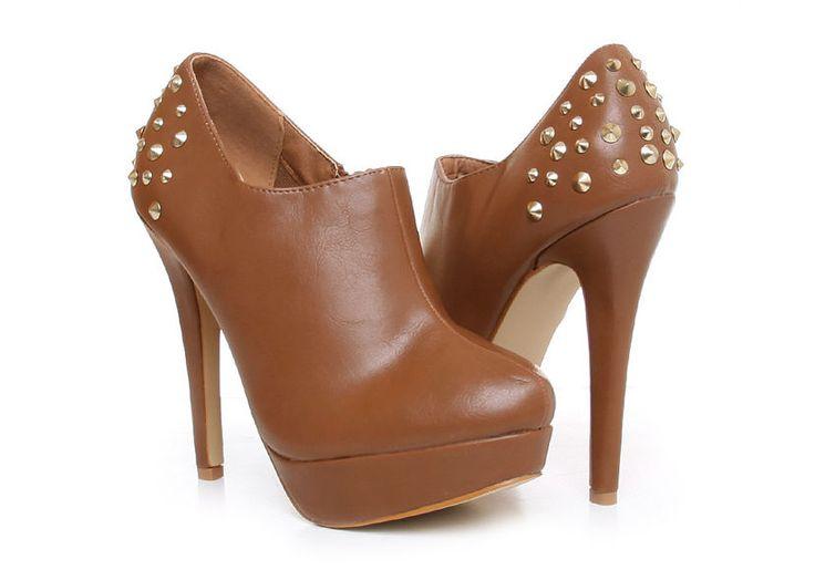 Karmelowe botki na obcasie  #platforma #szpilki #boots #buty  #czółenka #botki #obcas