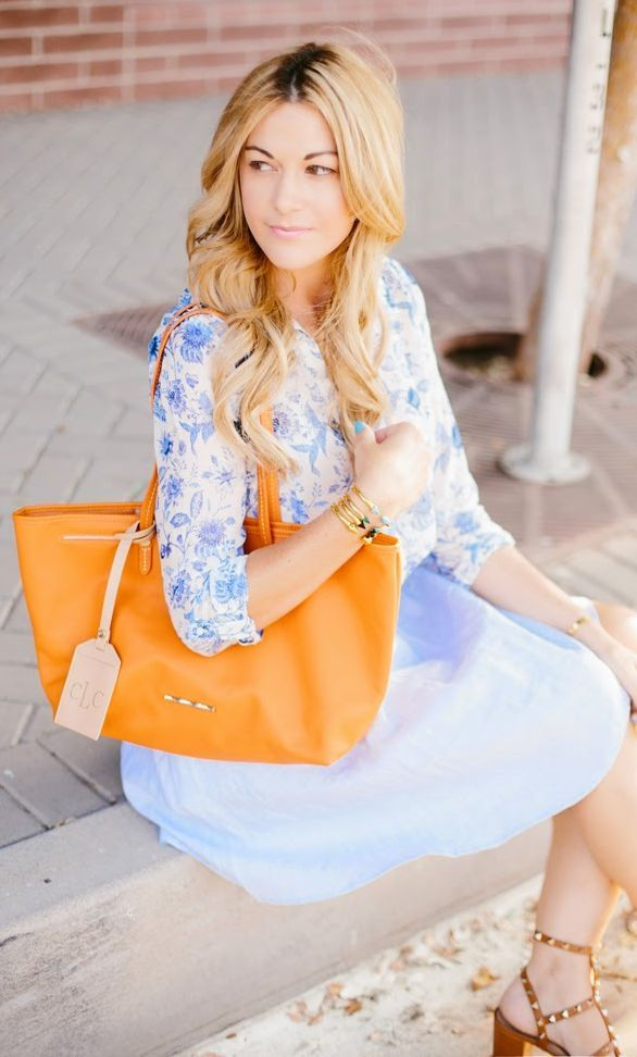 Elaine Turner Tangerine Summer Large Purse by A Little Dash Of Darling