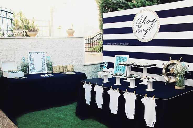 Little Wish Parties | Nautical Themed Baby Shower | https://littlewishparties.com