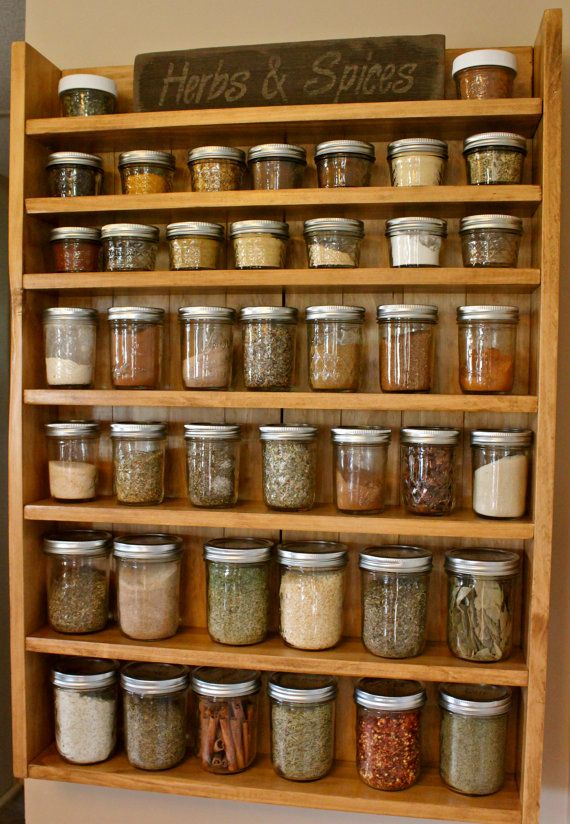 Solid Wood Spice Racks Spice Racks Ball Jars by NewRusticRevival, $105.00