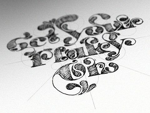 Design Inspiration, Hands Drawn Typography, Hands Drawn Types, Stefan Chinof, Hand Drawn, Behance Network, Letters, Types Treatments, Typography Inspiration