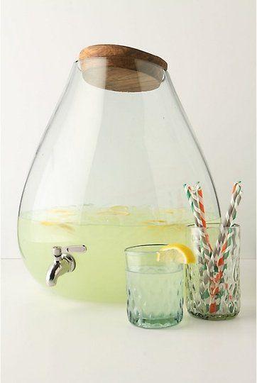 Chic party jug!: Drink Dispenser, Idea, Glass, Anthropologie Com, Kitchen, Bubbled Beverage, Beverage Dispenser, Products, Drinks