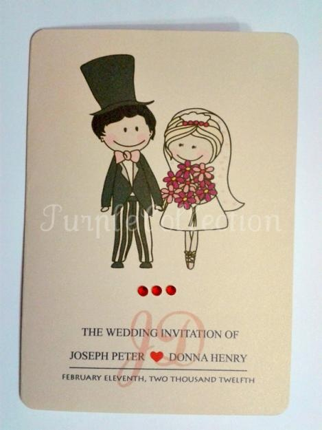 Cute Couple Wedding Invitation Card - Setapak
