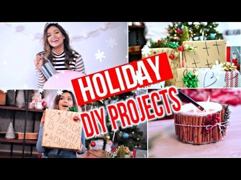 Fun Holiday DIY's | Decor, Gifts, + Treats! Ornament garland, cinnamon stick candle, oversized ornaments, frozen yogurt bark, diy wrapping paper,