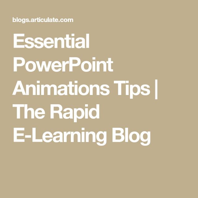 how to make animated presentation in powerpoint