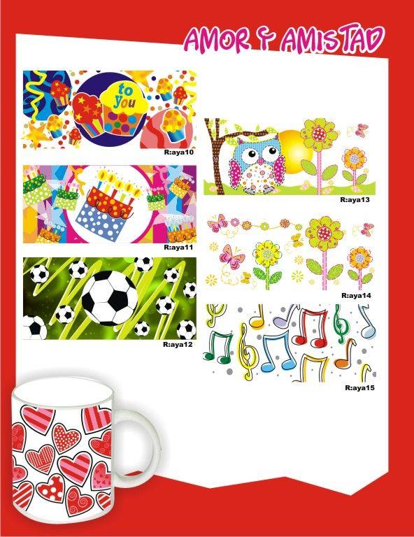 Diferentes motivos de mugs para Amor y Amistad. #DetallesParaAmorYAmistadPereira #FiestasTematicasArmenia