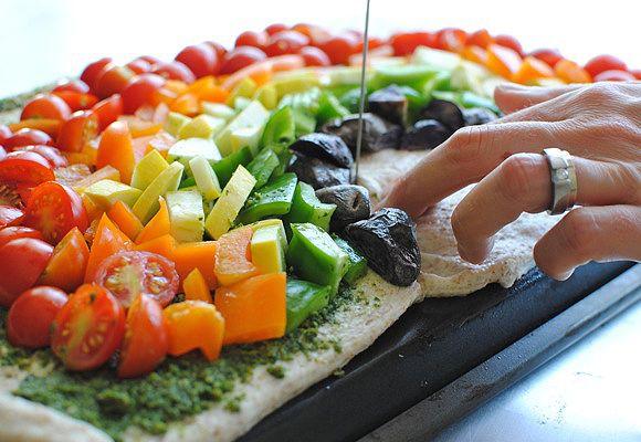 Rainbow veggie pizza - excellent