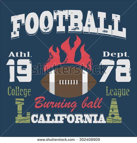 California Sport Typography,College Football Athletic Dept. T-shirt fashion design graphics, Vintage Print for sportswear apparel -  illustration