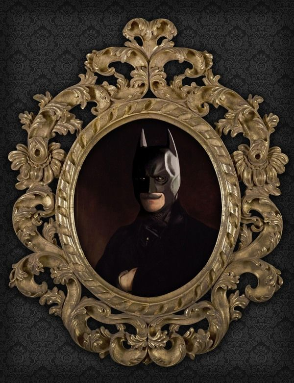 Superhero Oil Paintings Batman