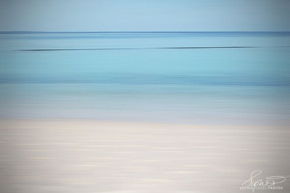 Ocean canvas beach photography panoramic art abstract fine