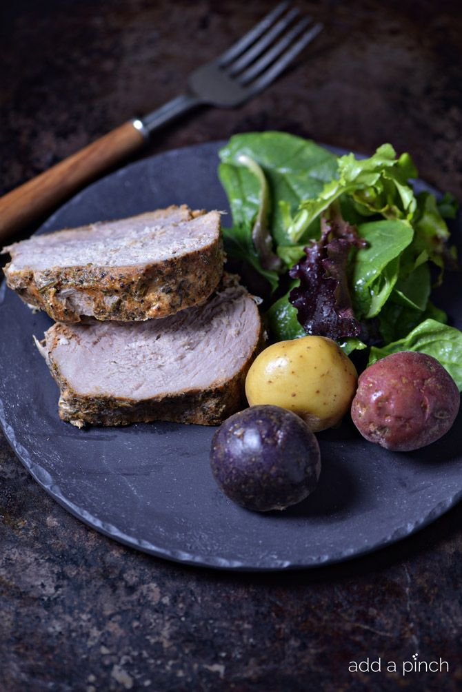 Pork Sirloin Roast - Cook the most moist and perfect no-fail pork sirloin that your family will love! from addapinch.com