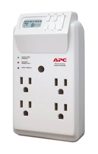 APC 4-Outlet Wall Surge Protector 1020 Joules with Timer-Controlled Outlets, Sur  | eBay