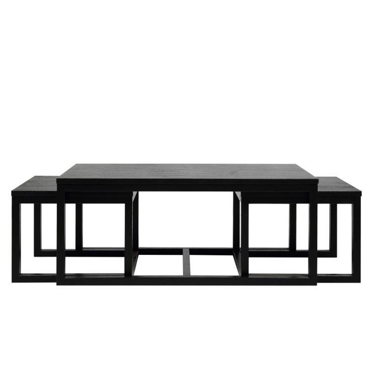 STOLIK KAWOWY WIGO BLACK (3/SET) - Nowoczesne meble, meble design, wyposażenie wnętrz-sklep meblowy, salon Warszawa, Gdańsk, Kraków