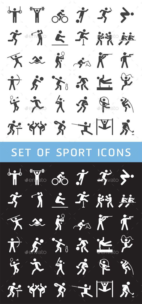 Set of Sport Icons. Download here: https://graphicriver.net/item/set-of-sport-icons/17535366?ref=ksioks