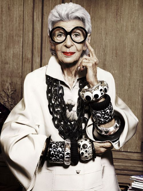 when you don't dress like everyone else, you don't have to think like everyone else. -iris apfel