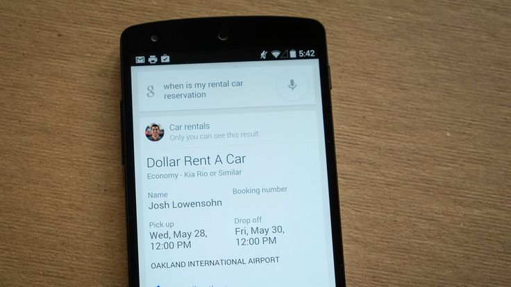 Google Search now pulls up car rentals if you've booked one