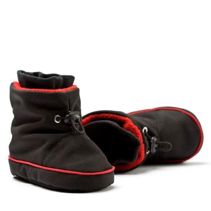 Liliputi® Babywearing Booties Black/Red   Liliputi baby shop  #babybooties #liliputi #babywearing