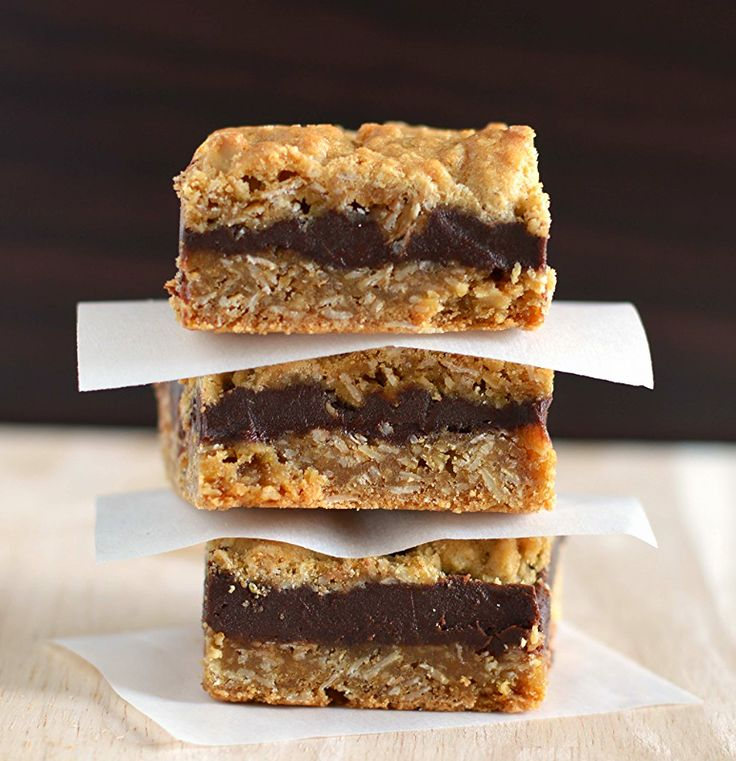 Oat fudge bars. Skip the coffee shop and make them at home!