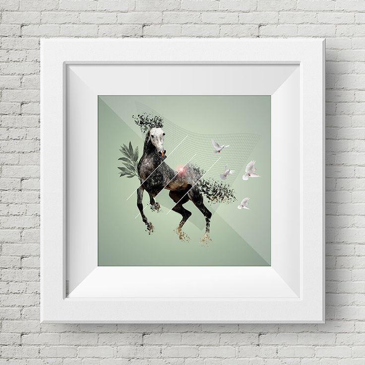 Ilustracion Digital Caballo Gris, Cuadro, Decoracion, Lamina, Caballo, Impresiones de GraphicHomeDesign en Etsy https://www.etsy.com/es/listing/239900303/ilustracion-digital-caballo-gris-cuadro
