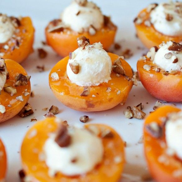 Goat Cheese Stuffed Apricots With Honey - Domestic Fits