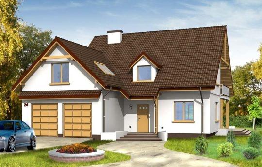 Projekt Zalesie to wygodny dom dla 4-5osobowej rodziny. Spokojna stonowana bryła współgra z funkcjonalnym wnętrzem. Domek pasuje na wąską działkę, mimo że posiada dwustanowiskowy garaż. Wnętrze domu: na parterze mieści się duży salon, kuchnia z aneksem oraz gabinet. Na poddaszu zaprojektowano cztery sypialnie, duży pokój kąpielowy i garderobę.