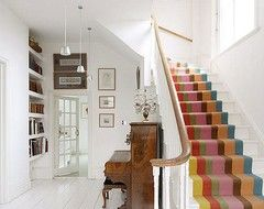 Pros and cons of painted stair treads? - Houzz
