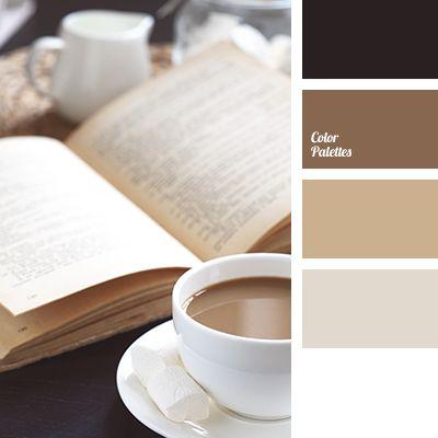 beige color, beige shades, black, brown color, coffee, coffee color, cream, old book color, shades of brown, tan color, warm shades of brown, white color.