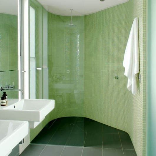 similar-colored grout to create an almost seamless surface.