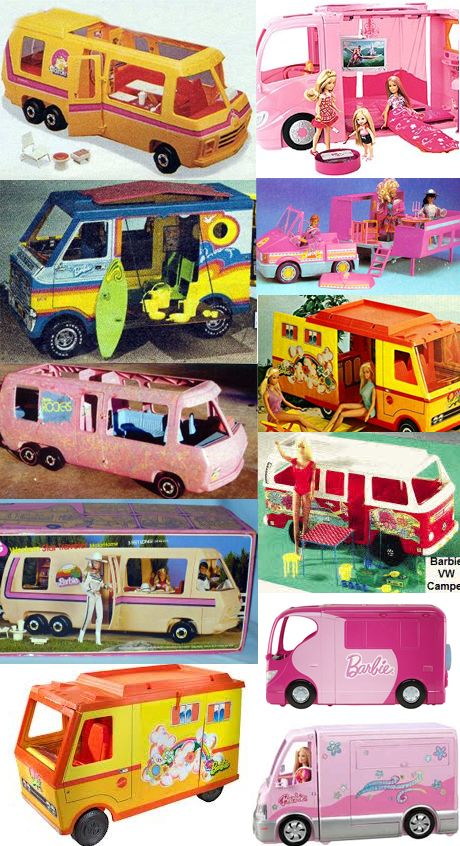 Outfittedwith dozens of coolamenitiesfrom flushing toilets and roof top patios tojacuzzis, Barbie is the original glamper. In addition to a personal aircraft, boats, and sports cars, Barbie has had a motorhomes for everything from horse shows to discos. Barbie's spirit of adventure has made camping cool, stylish and fun for over 40 years now. This…