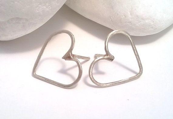 #heart #silver_earrings #stud_silver #kolimpri11