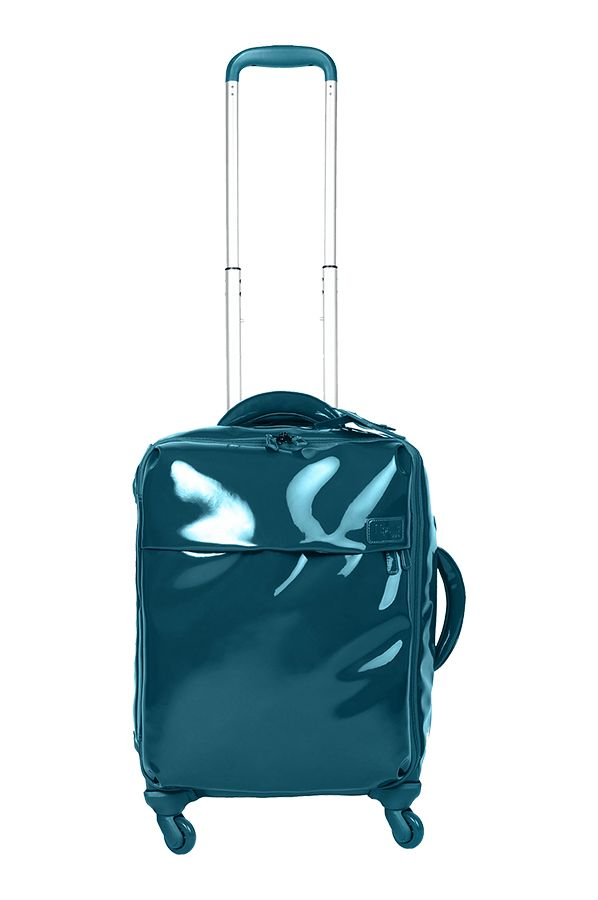Lipault - Plume Vinyle Valise Cabine 4 Roues 55cm Blue Canard // Lipault makes super lightweight handbags and luggage that comes in a rainbow of beautiful colors.