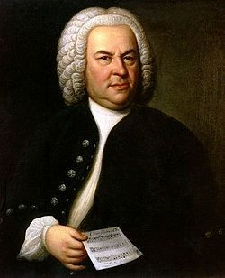 Johann Sebastian Bach -March 31, 1685-July 28, 1750 was a German composer and musician of the Baroque period. Shown: Portrait of Bach, aged 61, Haussmann, 1748