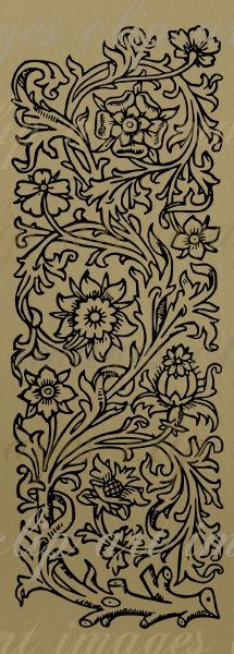 Floral Panel no.2 Clip Art, digital designers tool, png and scalable vector art…