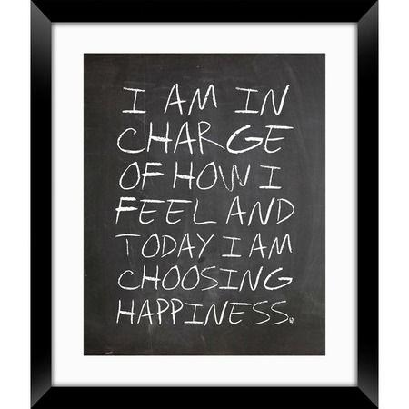Choose Happiness - Framed Wall Art.