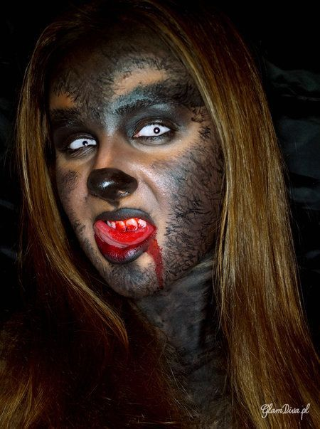 Image result for halloween BIG BAD WOLF MAKEUP