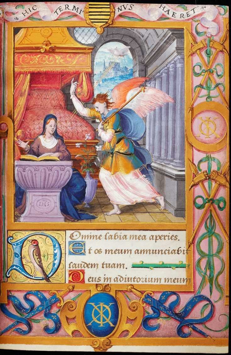 Annunciation from the Book of Hours of Claude Gouffier by Anonymous from France, before 1569 (PD-art/old), Biblioteka Czartoryskich