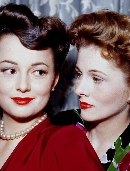 "sisters, olivia de havilland & joan fontaine, 1945 –""I married first, won the Oscar before Olivia did, and if I die first, she'll undoubtedly be livid because I beat her to it!"""