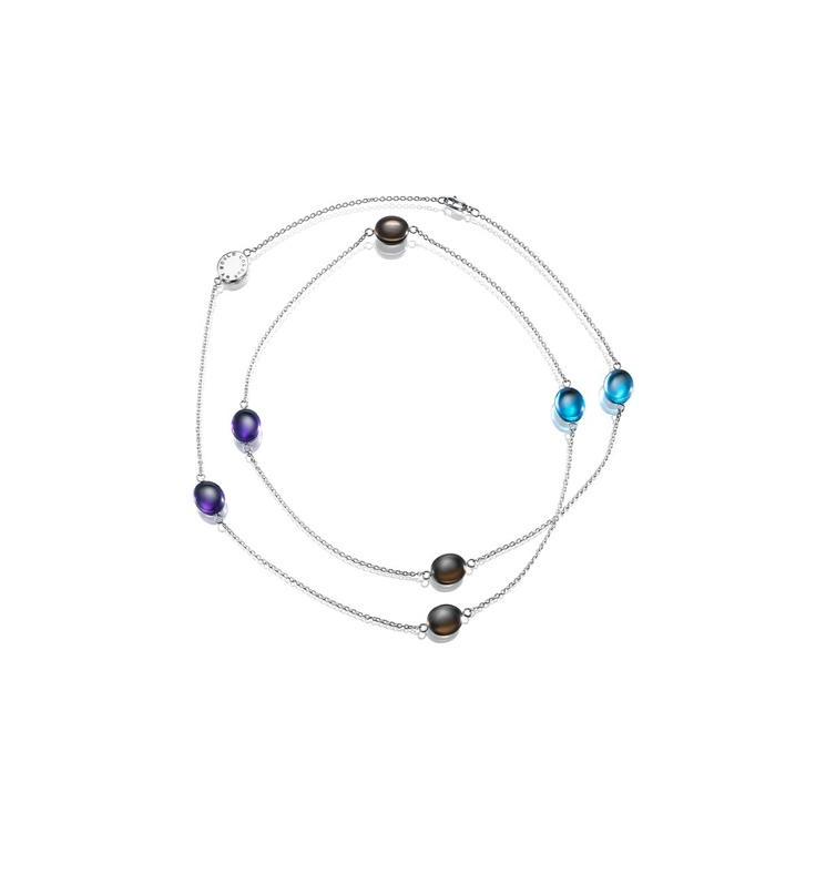 Efva Attling - Color My World - $1,805 - Necklace in silver with topaz, amethyst and smokey quartz.