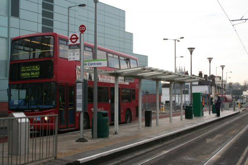 Croydon Tramlink tram stop at Centrale