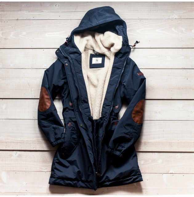 French Fishlong Parka - elbow patches