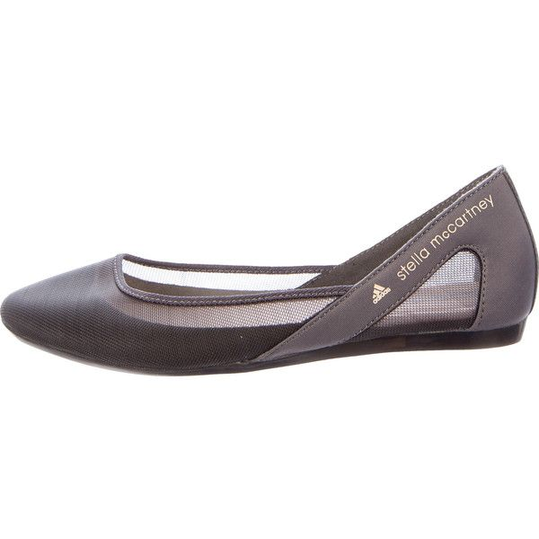 Pre-owned Stella McCartney for Adidas Mesh Round Toe Ballet Flats (385 BRL) ❤ liked on Polyvore featuring shoes, flats, grey, grey flats, gray flats, grey ballet flats, adidas and ballet pumps