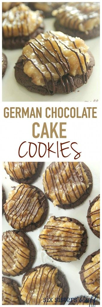 German Chocolate Cake Cookies from SixSistersStuff.com