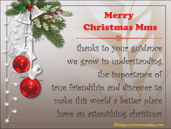 Christmas Card Message For Teachers From Parents | Best Christmas ...