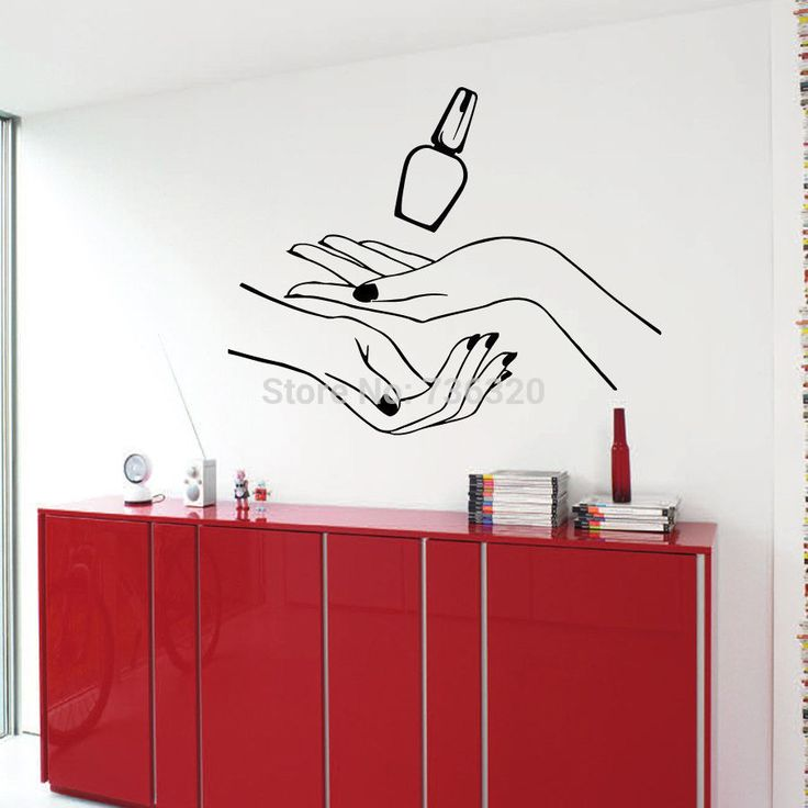30 best wall decals beauty salon images on pinterest for Stickers salon design