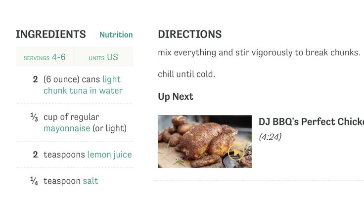 Subway Tuna Recipe