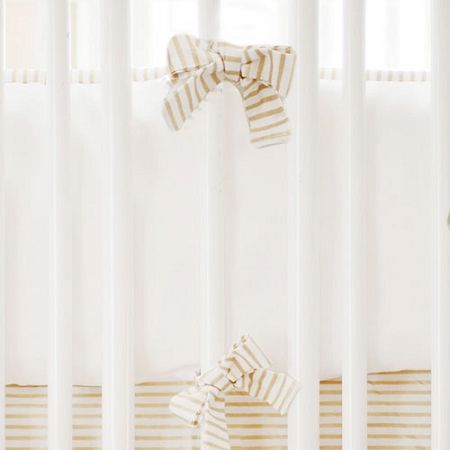 Gold and White Crib Bumper | Gold Dust Crib Collection