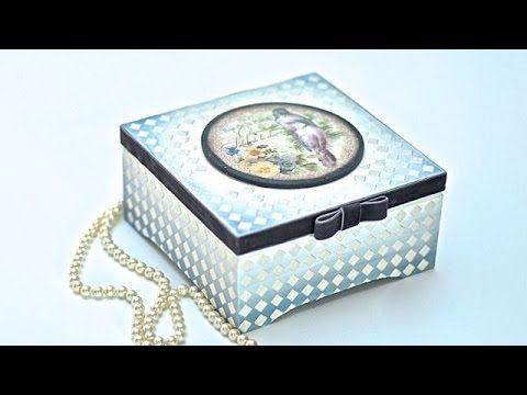 Pudełko z pastą satynową Tutorial DIY - YouTube
