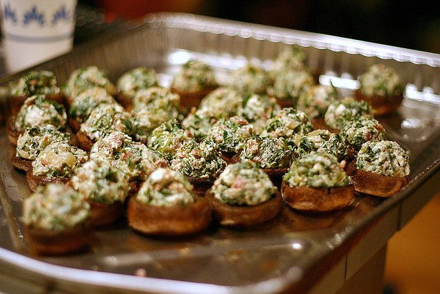 Roasted Mushrooms Stuffed With Feta, Spinach and Bacon Bon Appetit ...