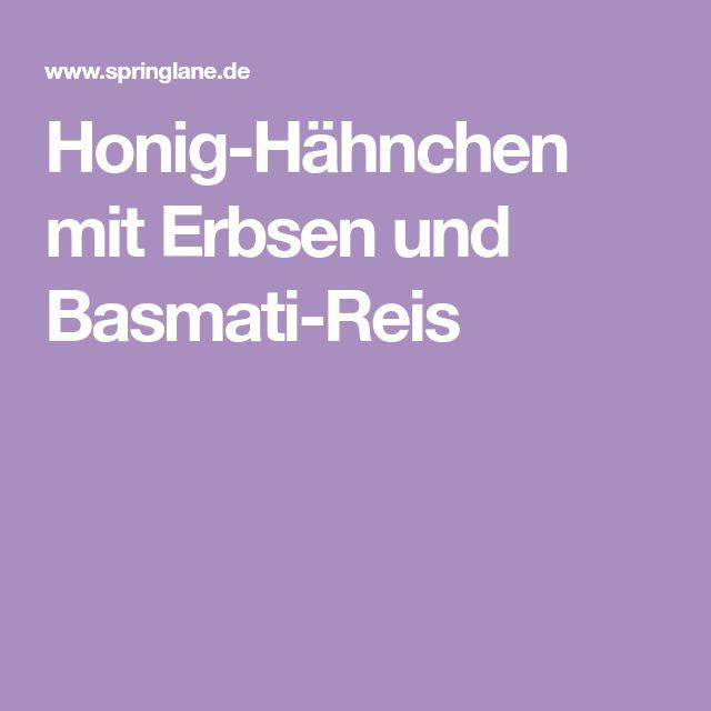 Honig-Hähnchen mit Erbsen und Basmati-Reis